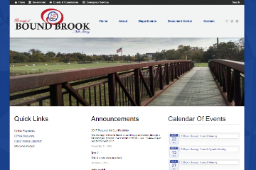 Image of Bound Brook Website