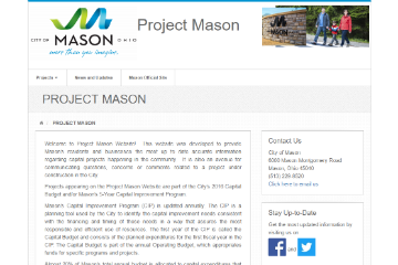 Image of Project Mason Website