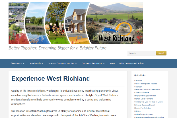 Image of the West Richland Website