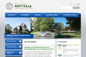 Image of Amityville Website