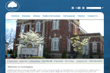 Image of Farmington Website