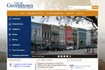 Image of Georgetown Website