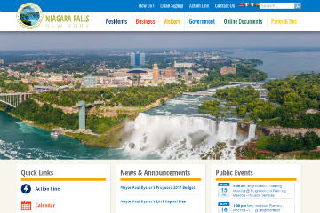 Image of Niagara Falls Website