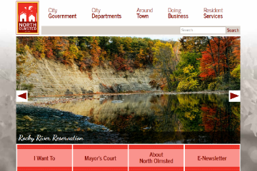Image of North Olmsted Website