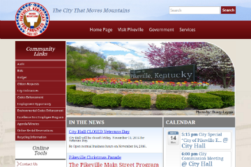 Image of Pikeville Website