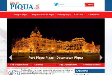 Image of Piqua Website
