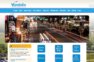 Image of Vandalia Website
