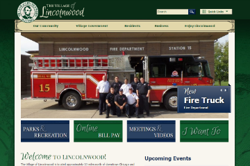 Image of Lincolnwood Website