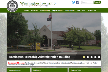 Image of Warrington Website