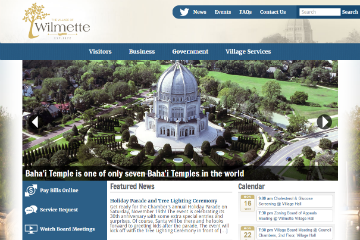 Image of Wilmette Website